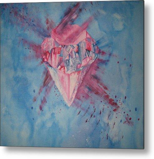 Diamond Metal Print featuring the painting Blood Diamond by Theodora Dimitrijevic