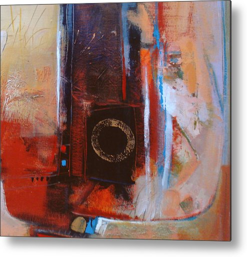 Abstract Metal Print featuring the digital art Centered Circle by Dale Witherow