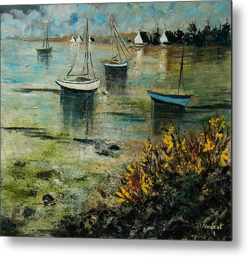 Seascape Metal Print featuring the print Seascape 78 by Pol Ledent