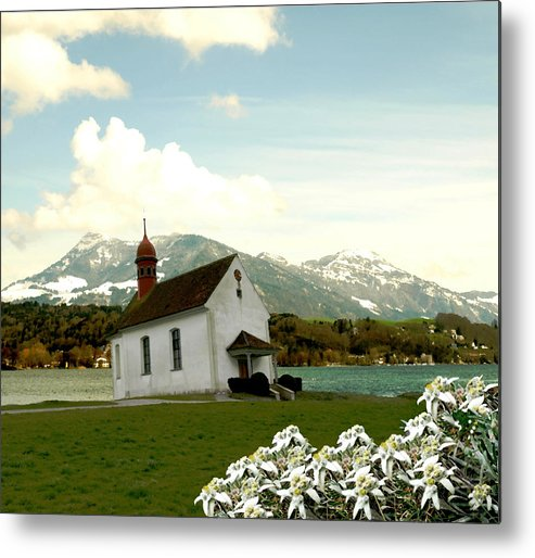 Landscape Metal Print featuring the photograph Swiss Spring Version 3 by Chuck Shafer