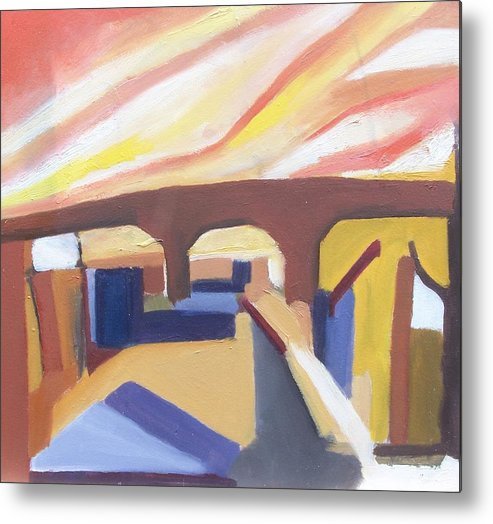 Painting Metal Print featuring the painting A Brooklyn Abstract by Ron Erickson