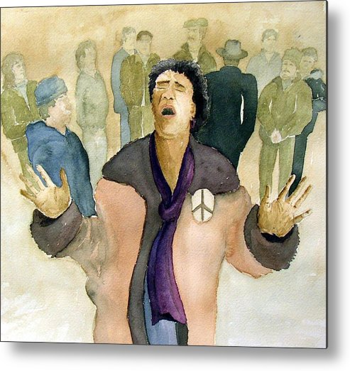 Figure Metal Print featuring the painting Peace Protest by Joe Lanni