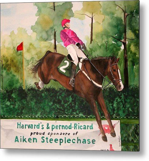 Horse Metal Print featuring the painting Flying High by Jean Blackmer