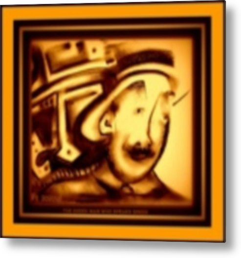 Joan Kamaru Metal Print featuring the digital art Gold Man by J Kamaru