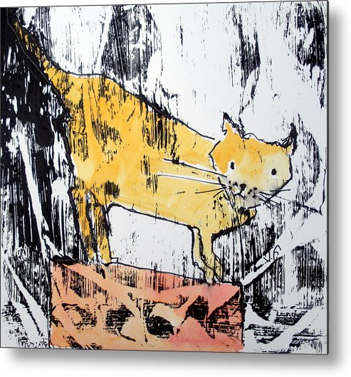Amimals Metal Print featuring the painting Marmalade by Jane Ferguson
