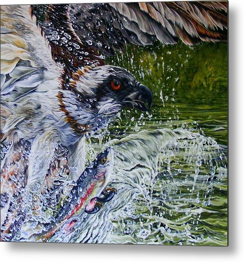 Osprey Metal Print featuring the painting Osprey by Donald Dean