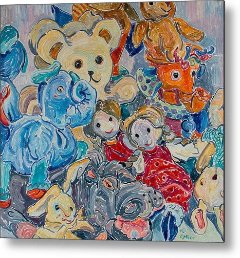 Toys Metal Print featuring the painting Toys by Vitali Komarov