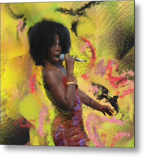Music Artwork Metal Print featuring the painting Sky Covington by Donald Pavlica