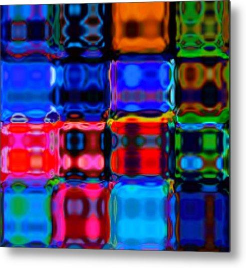 Digital Artwork Metal Print featuring the photograph Digital Quilt by Karen Marturello