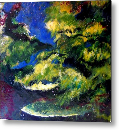 Landscape Metal Print featuring the painting In The Spaces by Karla Phlypo-Price
