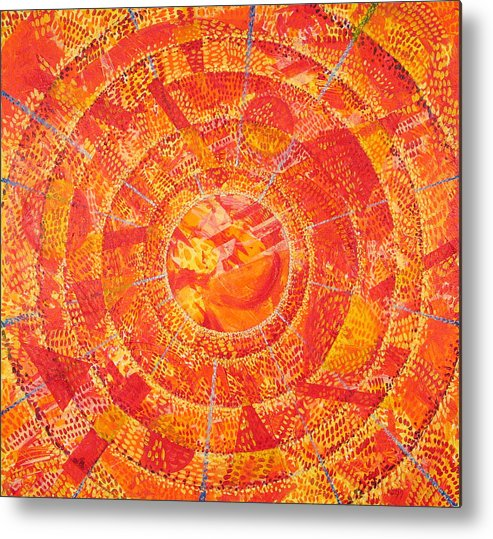 Abstract Metal Print featuring the painting Microcosm Xix by Rollin Kocsis