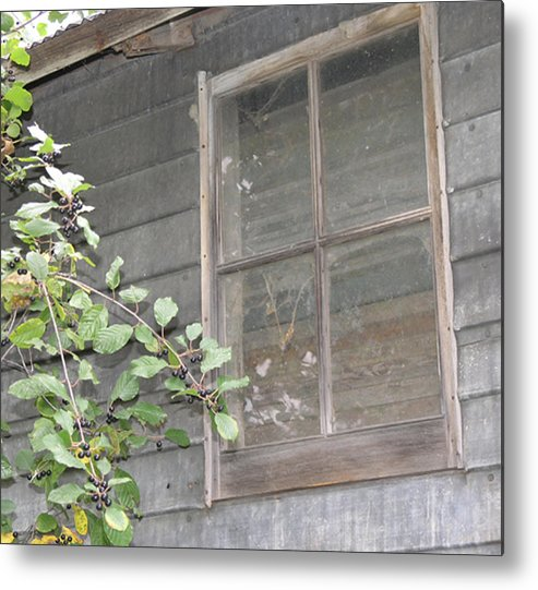 Windows Metal Print featuring the photograph Old Barn Window by Janis Beauchamp
