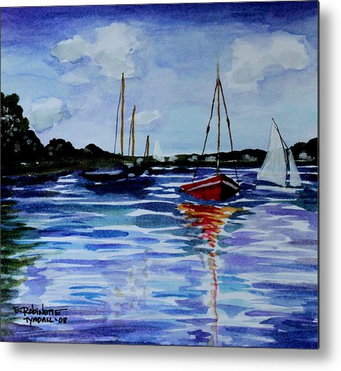Sailing Metal Print featuring the painting Sailing Day by Elizabeth Robinette Tyndall