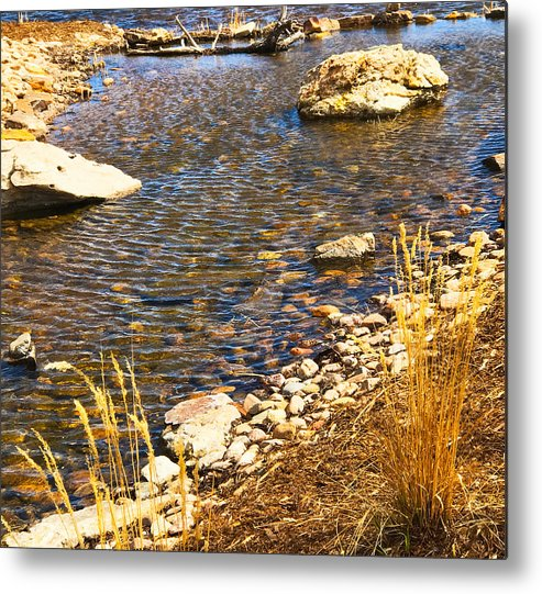 Nature Metal Print featuring the photograph Skipping Stone by Gina Bonelli