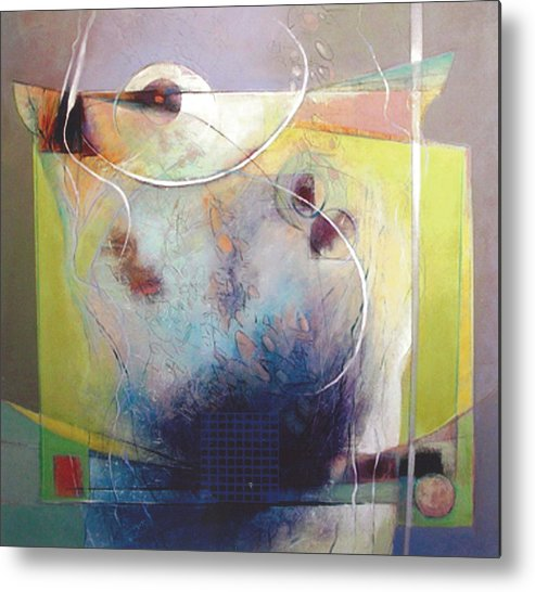 Abstract Metal Print featuring the painting Altar by Dale Witherow