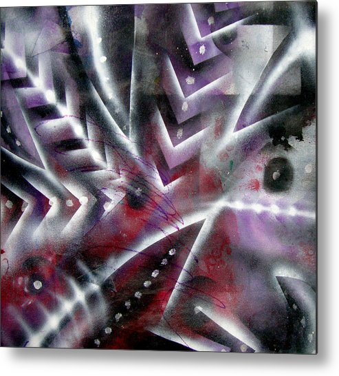Contemporary Metal Print featuring the painting Artleigh by Leigh Odom
