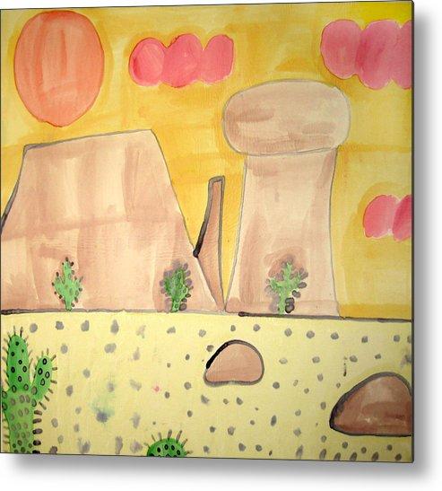 Desert Metal Print featuring the painting Desert by Sean Cusack