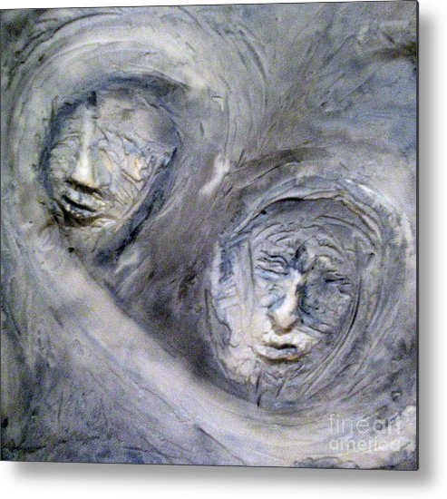 Portraits Metal Print featuring the painting In The Ice Storm by Kime Einhorn