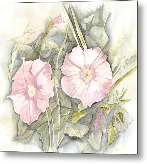 Petunias Metal Print featuring the painting Petunias by Jackie Mueller-Jones