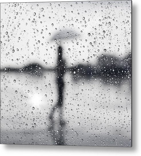 Abstract Metal Print featuring the photograph Rainy Day by Setsiri Silapasuwanchai