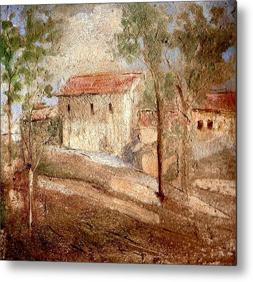 Landscape Metal Print featuring the painting Umbria by Maria Grazia Repetto