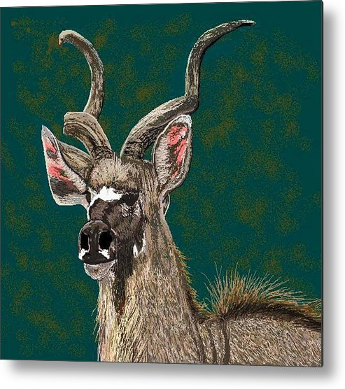 African Wildlife Metal Print featuring the digital art A Proud Soul by Carole Boyd