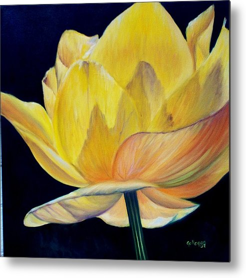 Flower Metal Print featuring the painting Amarella by Elsa Gallegos