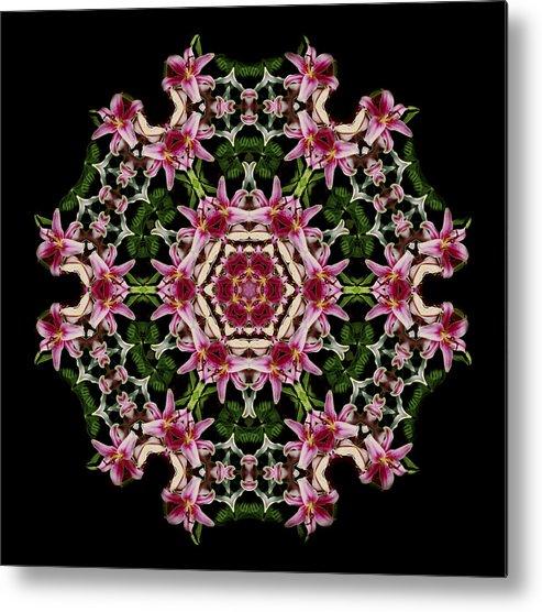 Mandala Metal Print featuring the photograph Mandala Monadala Lisa by Nancy Griswold