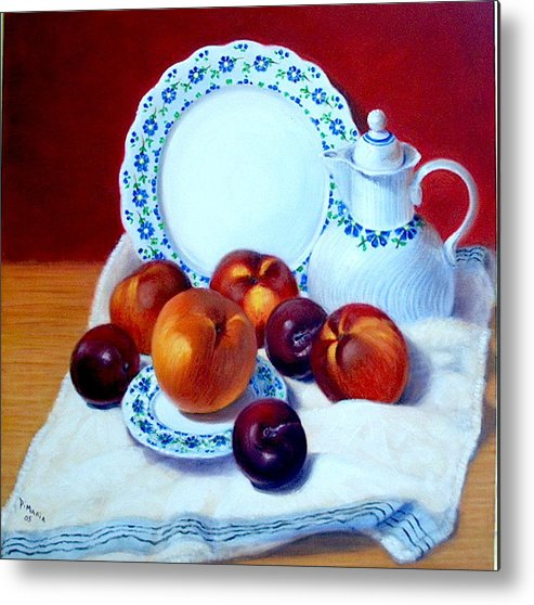 Realism Metal Print featuring the painting Summer Harvest  by Donelli DiMaria