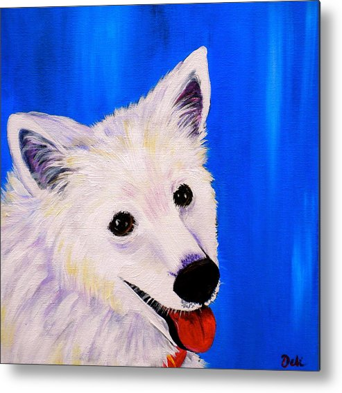 Dog Paintings Metal Print featuring the painting Mac by Debi Starr