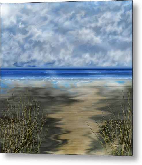 Anne Norskog Metal Print featuring the painting The Road Less Travelled by Anne Norskog