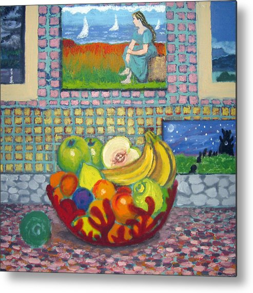 Still Life Metal Print featuring the painting A Still Life by Susan Stewart