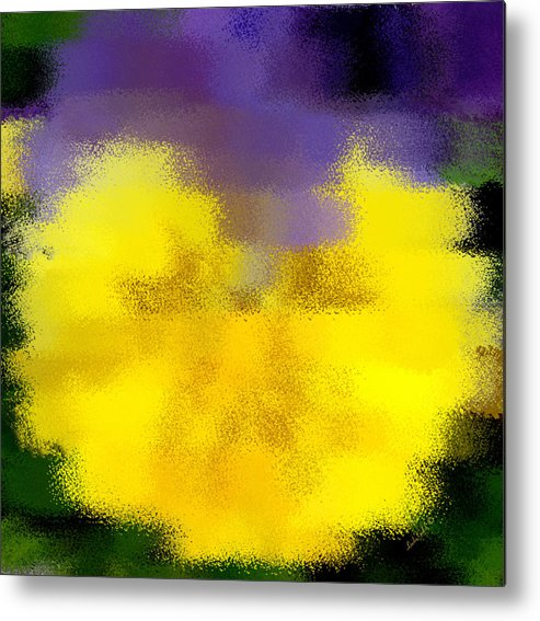 Abstract Metal Print featuring the digital art Angel Faced Petunia by Linda Galok
