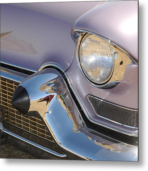 Cadilac Caddy Art Print Grill Classic Car Metal Print featuring the photograph Caddy Grill by Patrick Short