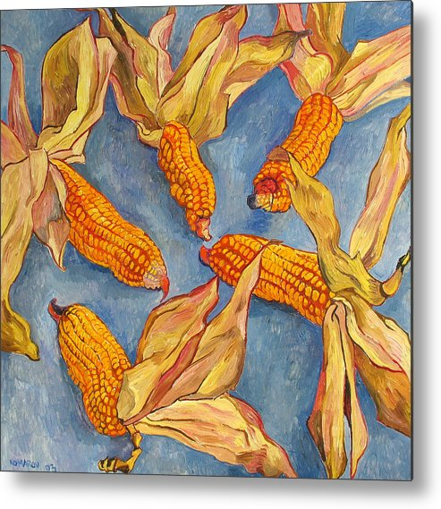 Corn Metal Print featuring the painting Corn by Vitali Komarov
