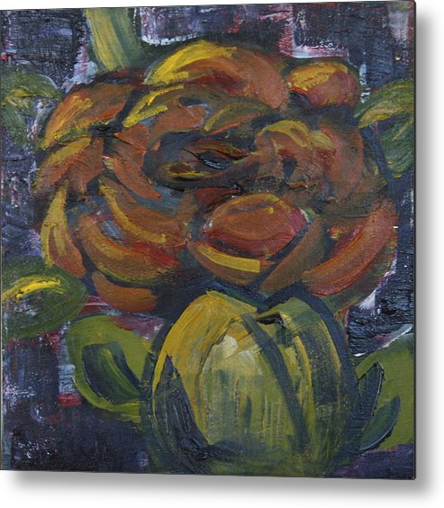 Metal Print featuring the painting Ecuador Rose by Emily Stewart