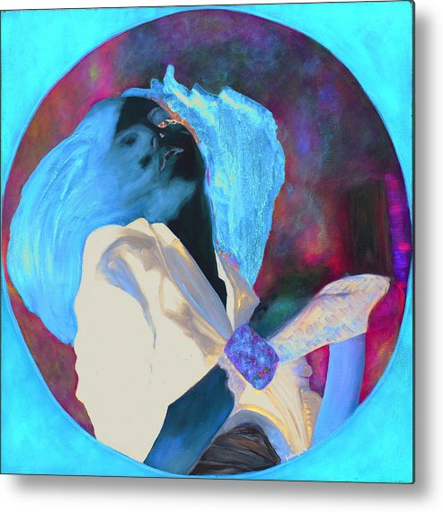 Metal Print featuring the painting Ephemere by Krzis-Lorent Frederique