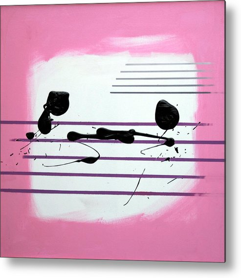 Abstract Metal Print featuring the painting Feelings by Mario Zampedroni