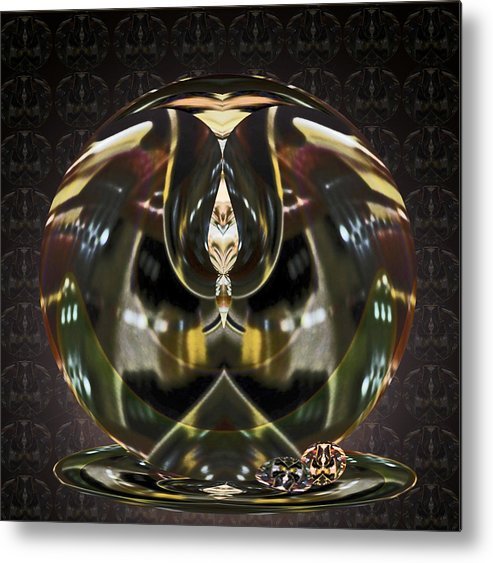 Glass Metal Print featuring the digital art Glass Illusion by Beverly Kimble Davis