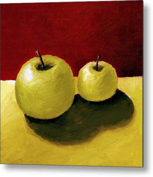 Apple Metal Print featuring the painting Granny Smith Apples by Michelle Calkins