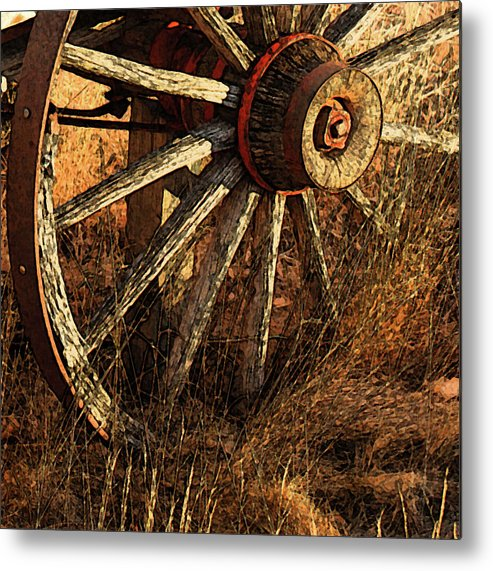 Farms Metal Print featuring the photograph Harvest Memories by Kevin Albright