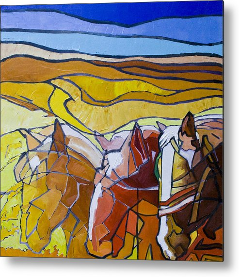 Horses Metal Print featuring the painting Palouse Trio by Gregg Caudell