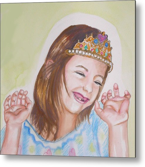 Princess Metal Print featuring the painting Pretty Princess by Anne Cameron Cutri