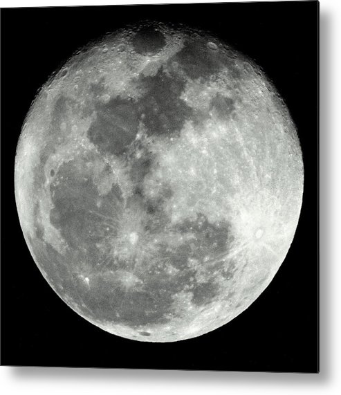 Moon Metal Print featuring the photograph Super Moon by Lisa Scott
