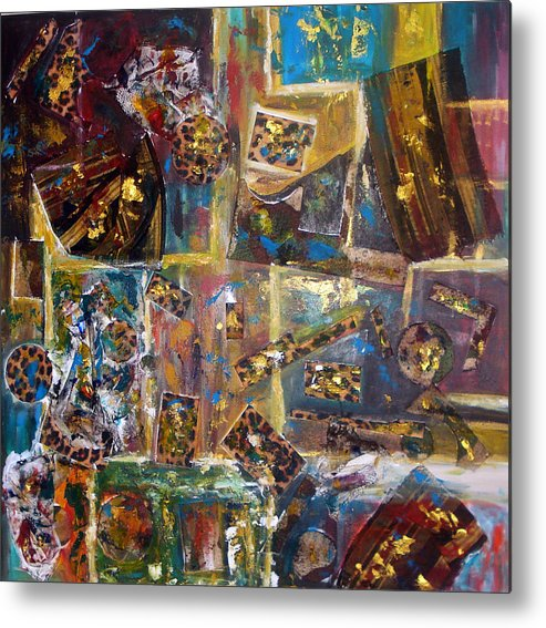 Collage Painting Metal Print featuring the painting The Infinite Passion Of Life by Yael VanGruber