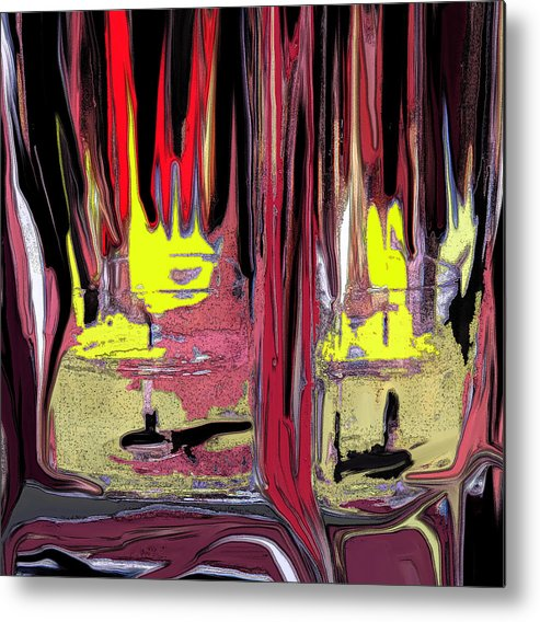Abstract Metal Print featuring the digital art The Party by Ian MacDonald