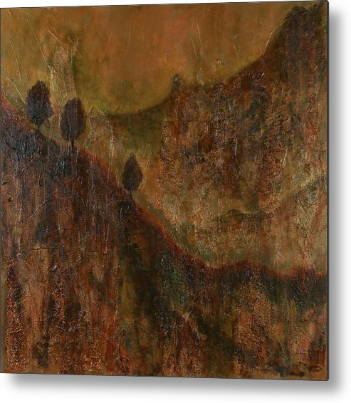 Original Acrylic Mixed Media Abstract Metal Print featuring the painting Transition by Sharon Steinhaus