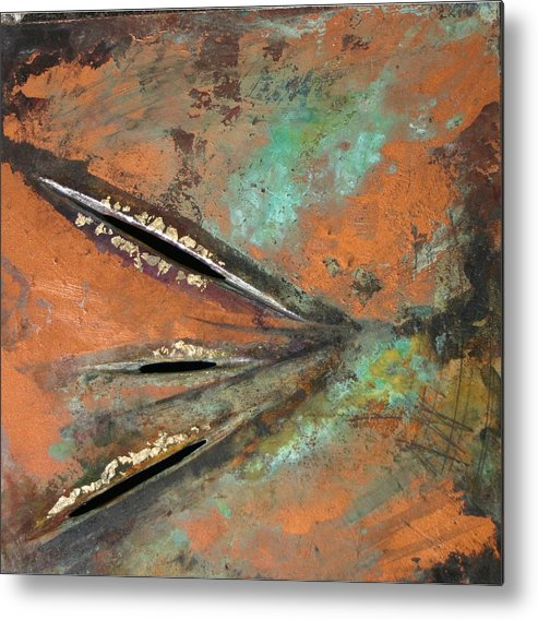 Landscape Metal Print featuring the painting Transitroy Marks IIi by Dodd Holsapple