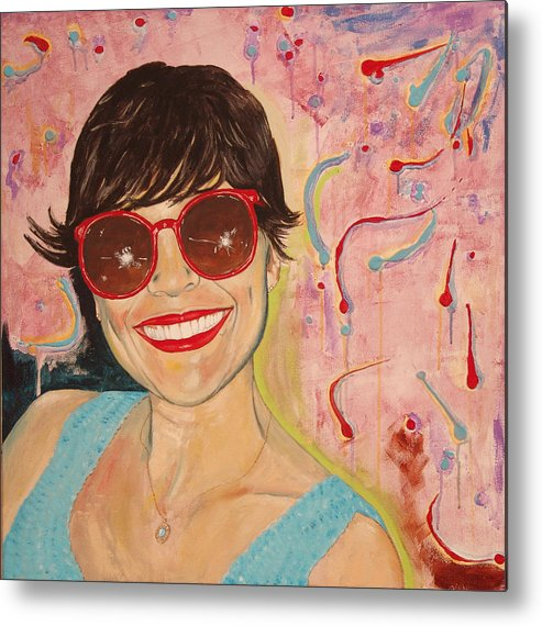 Portrait Metal Print featuring the painting When Irene Smiles by Kevin Callahan
