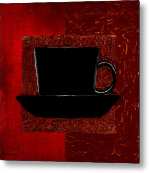Coffee Metal Print featuring the digital art Coffee Passion by Lourry Legarde